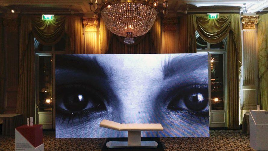 led scherm in amsterdam voor een productpresentatie in het amstelhotel