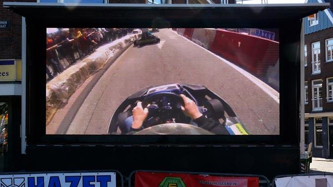 Groot led scherm huren zaandam - city karting