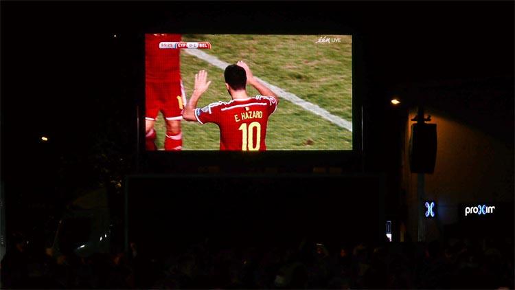 led scherm huren rode duivels voetbal antwerpen gent brussel limburg