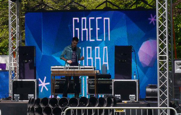 led videoscherm visuals vj festival enschede