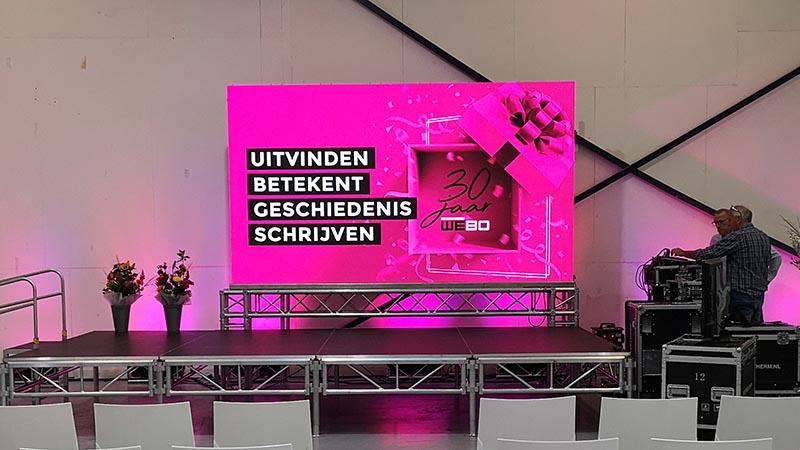 led scherm - beeld -licht - geluid - podium - rijssen