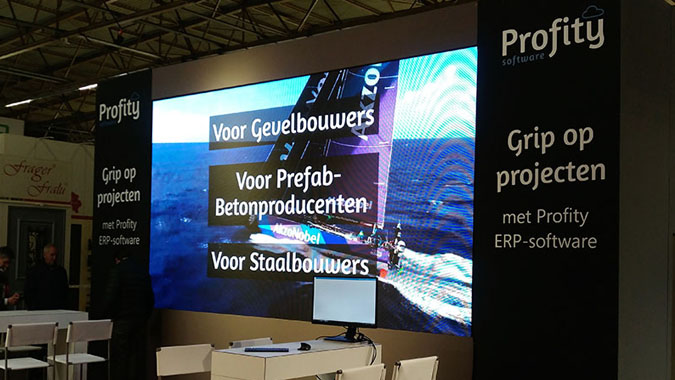 Hire led displays for your exhibition booths in antwerp ghent or brussels