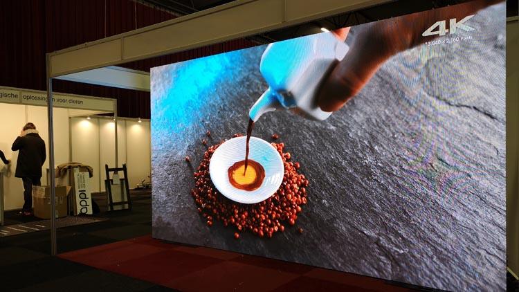 led scherm tijdens biobeurs zwolle