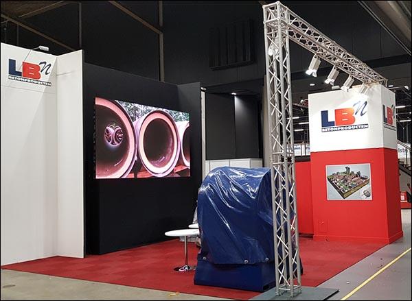 LED Scherm in stand voor bedrijf uit Friesland