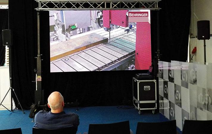 led scherm en geluid in haaksbergen voor presentatie tijdens open dagen
