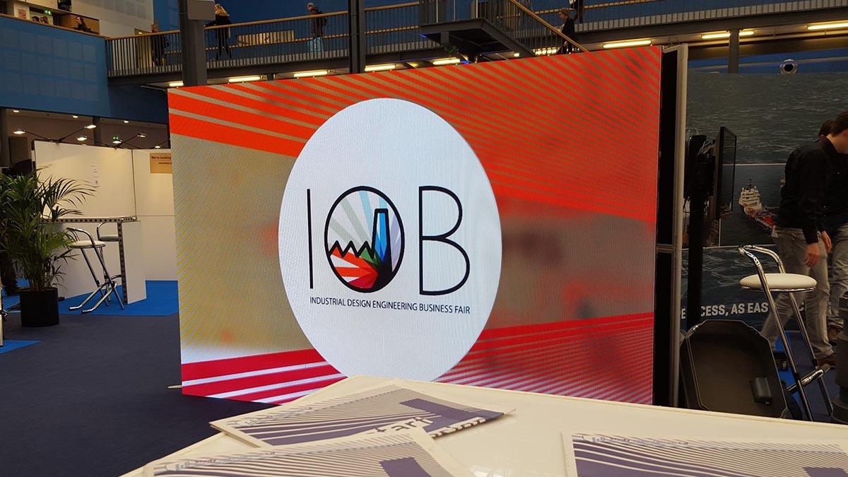 led scherm in delft, zuid-holland, tijdens business fair