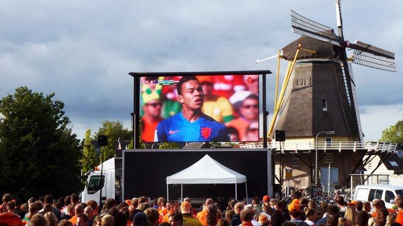 Mobiele LED Wall huren tijdens wk voetbal