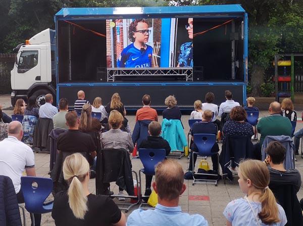 evenementenwagen met led scherm